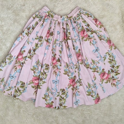 Pinup Couture Pink Floral Skirt XS