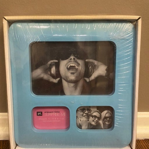 Light Blue Collage Picture Frame