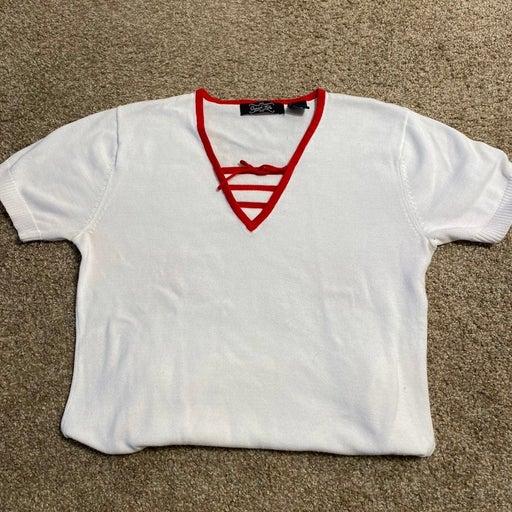 VTG Red White Bow Sweater PL