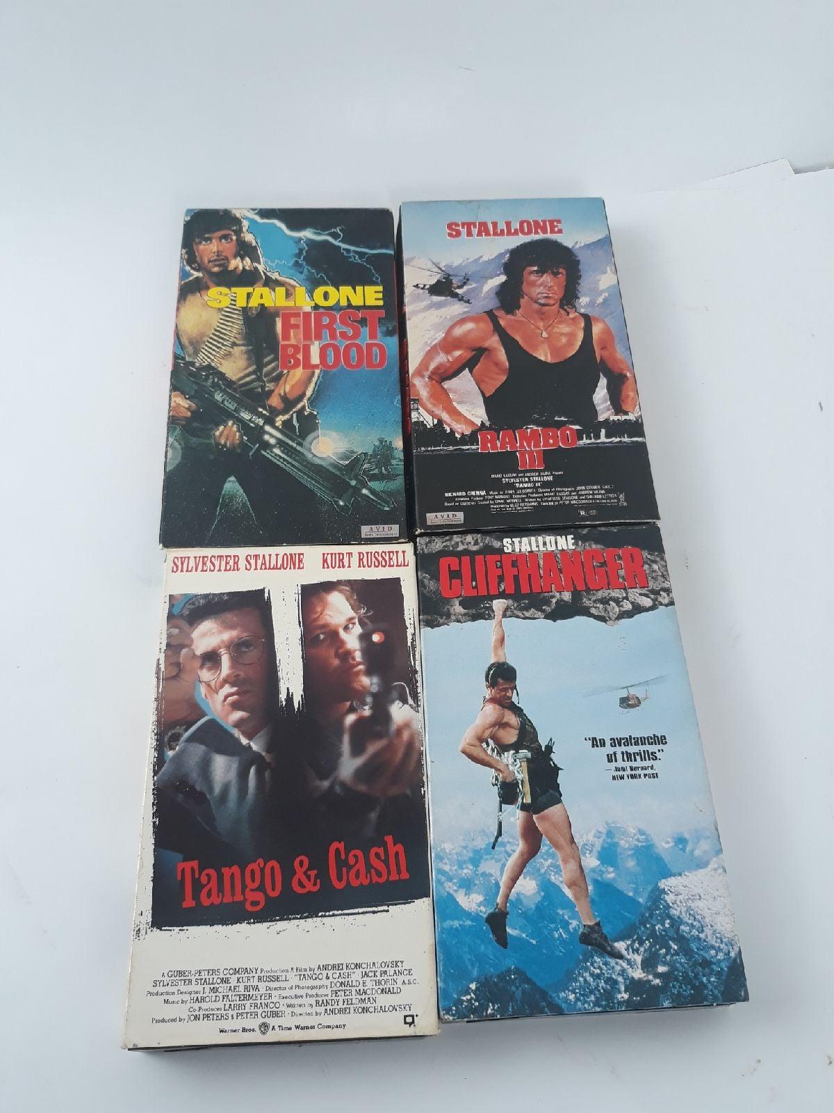 Sylvester Stallone VHS bundle