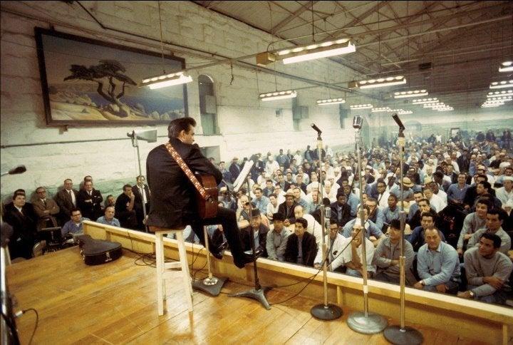Johnny Cash Folsom Prison 8x10 photo