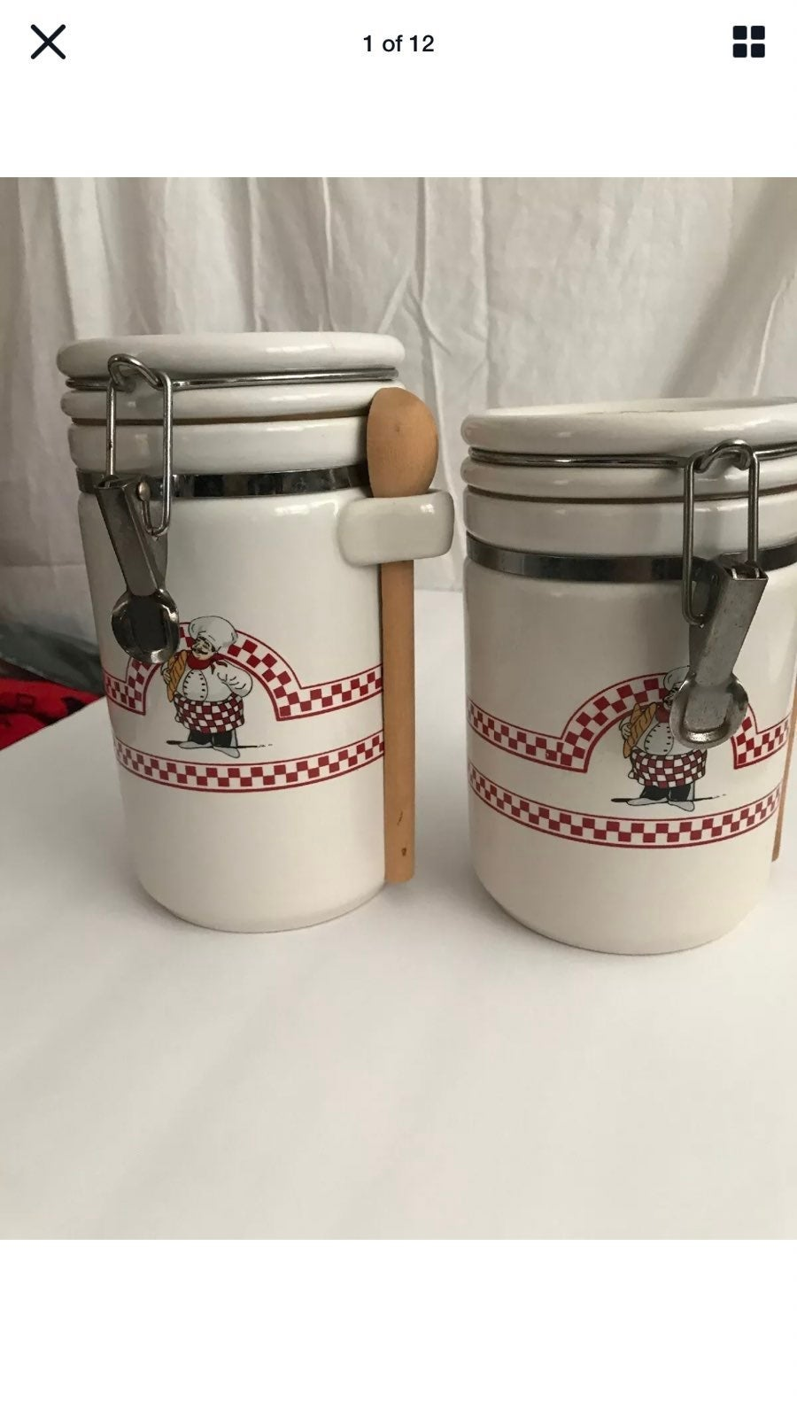 Fat Chef Kitchen Ceramic Containers Jars