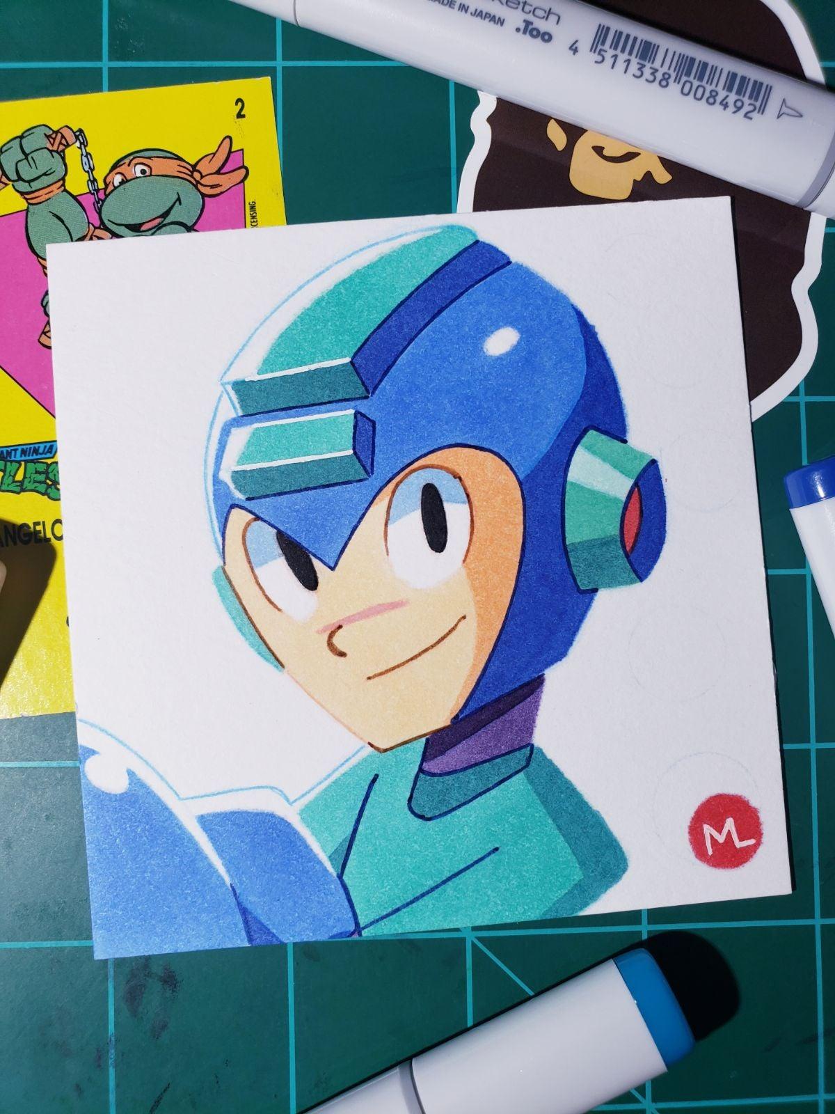 Mega Man Drawing.