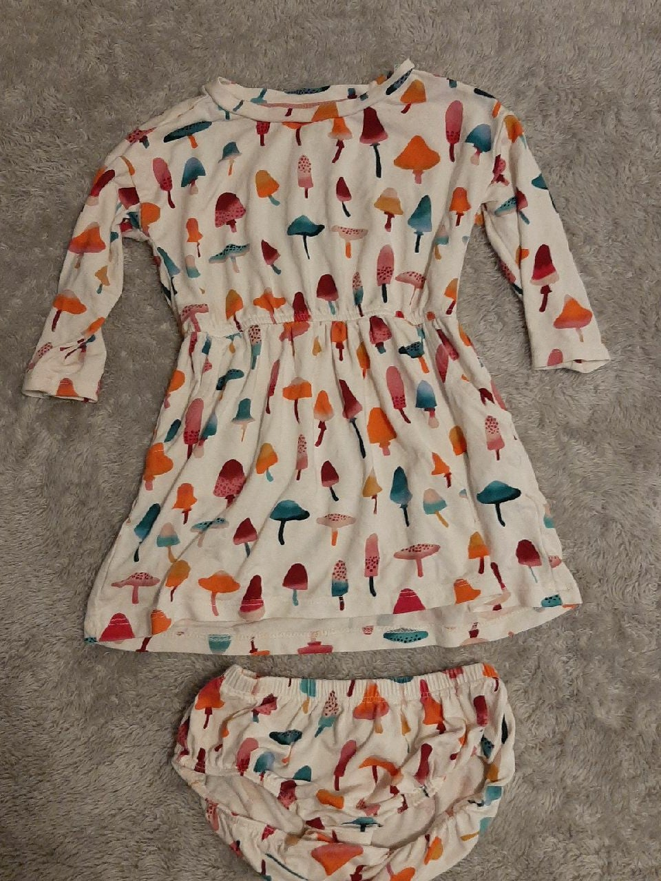 Babygirls toadstool mushrooms dress 6/12
