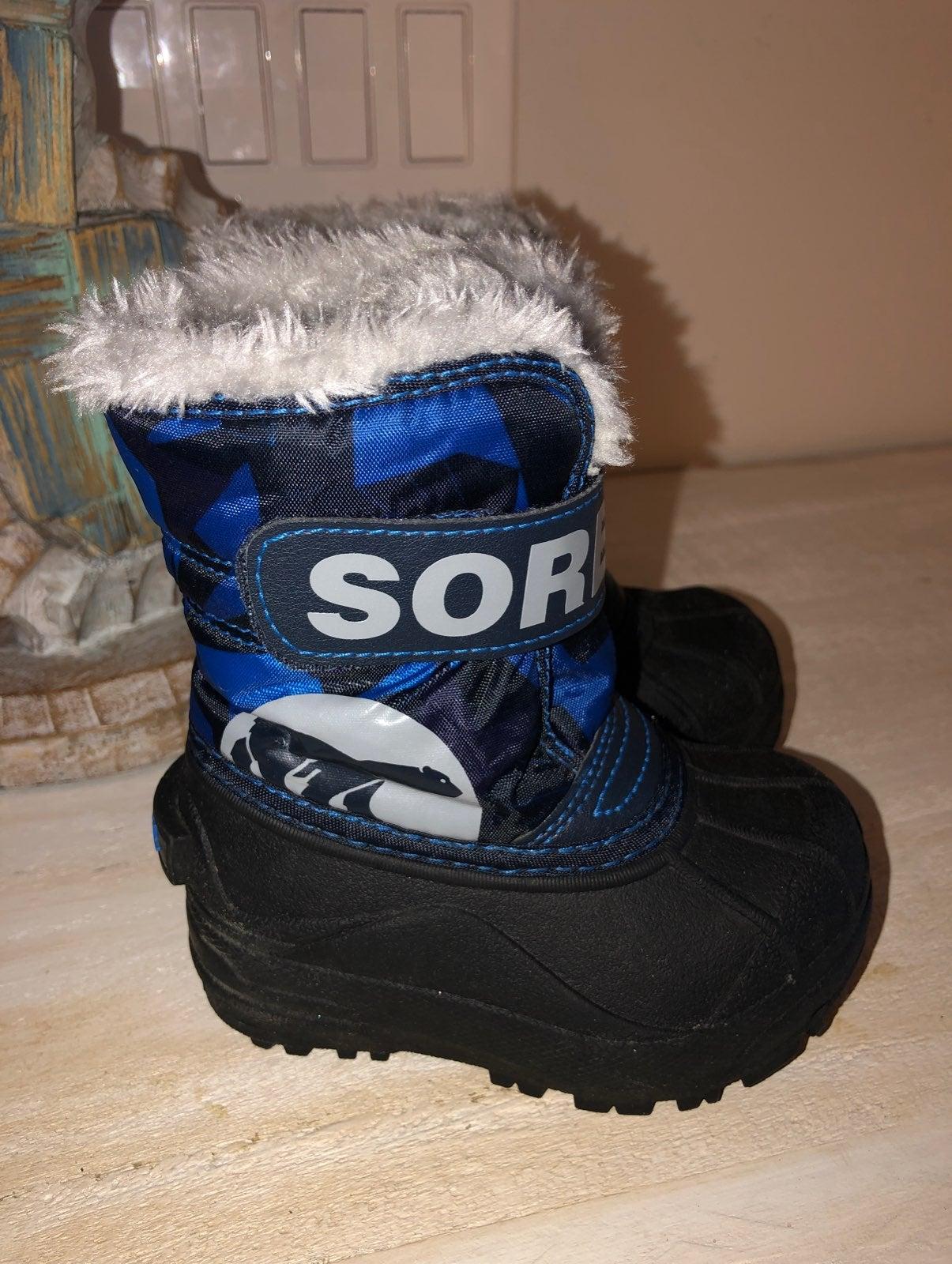 Sorel toddler Snow Commander boys size 6