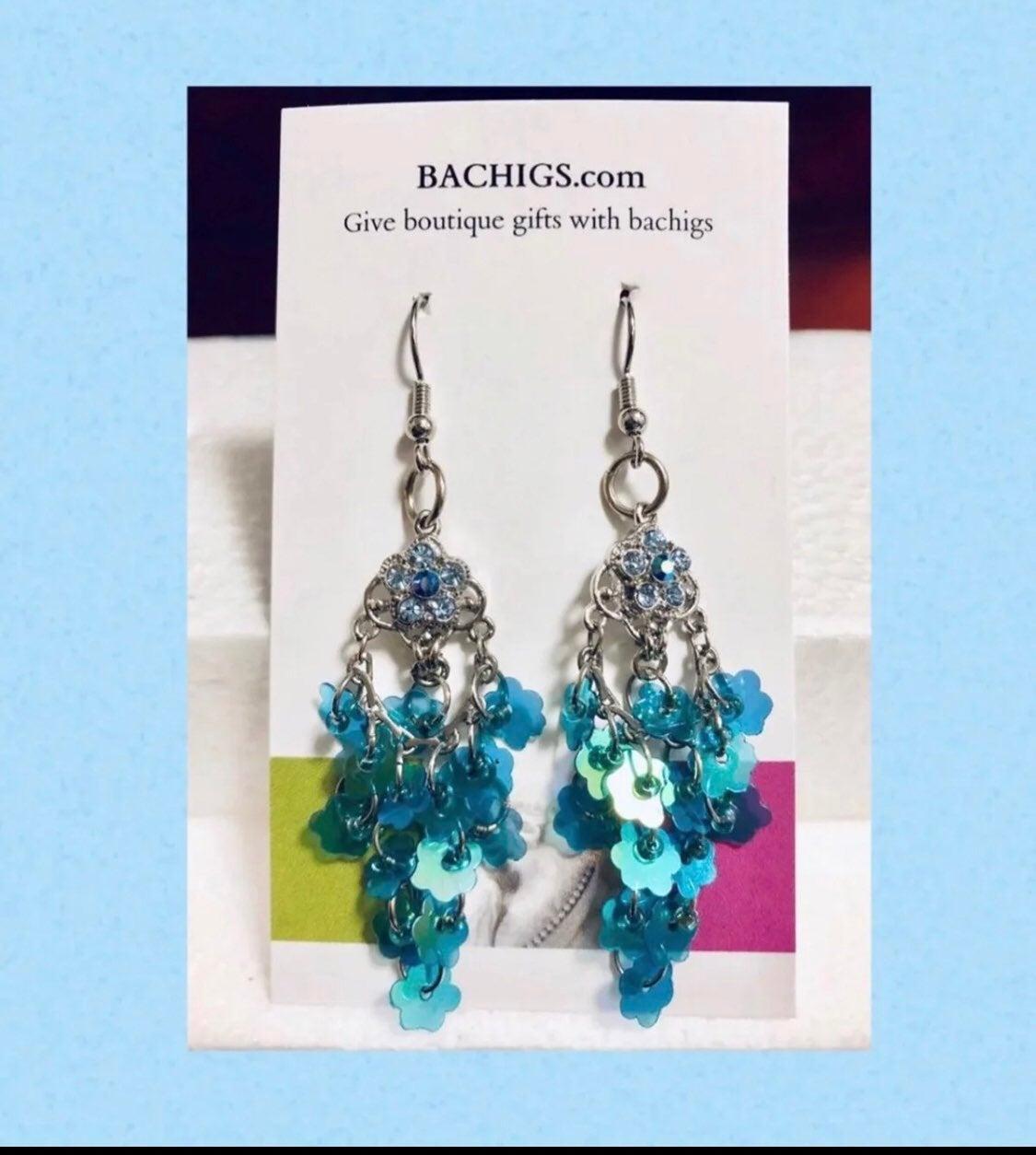 Blue drop Earrings - new