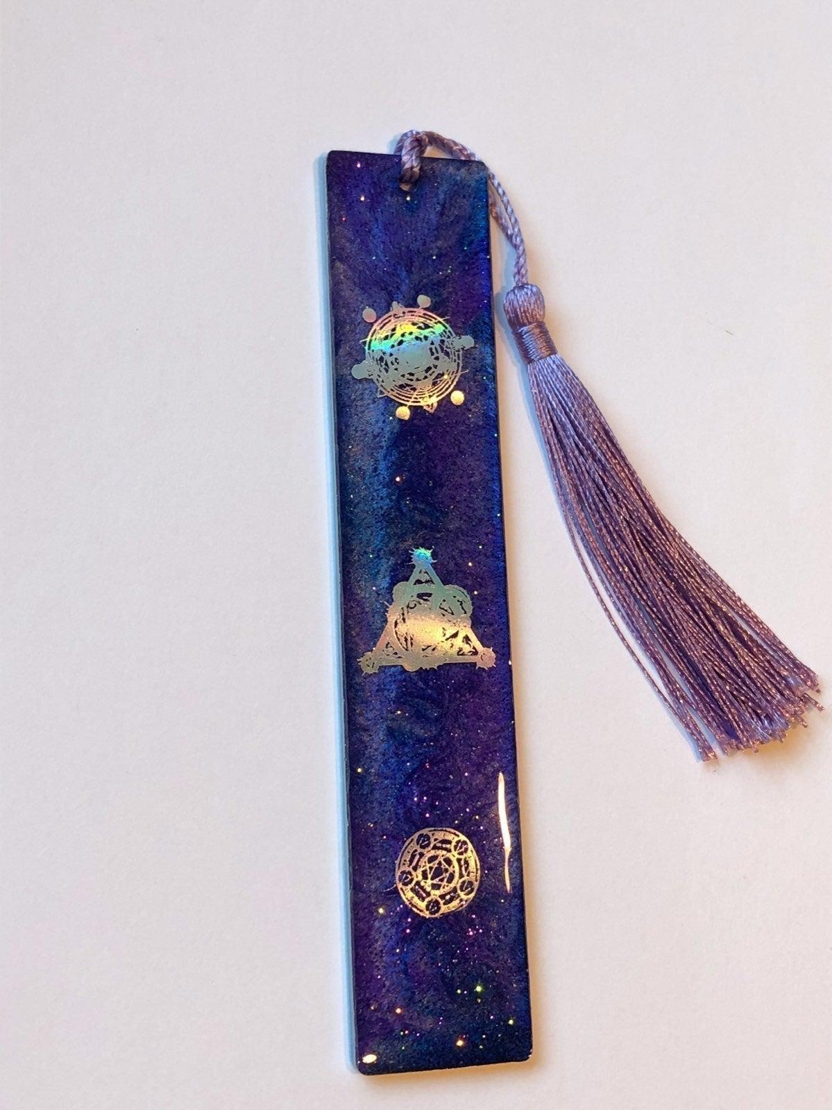 Handmade resin cosmic bookmark