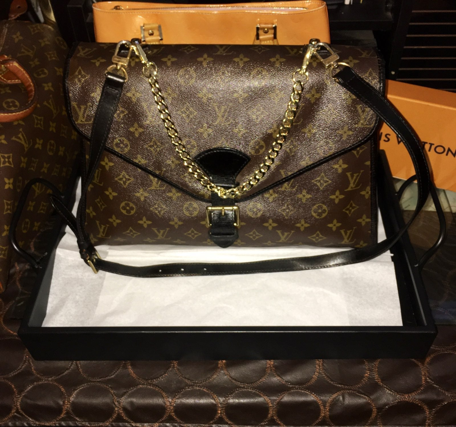 Auth Louis Vuitton Two Way Beverly