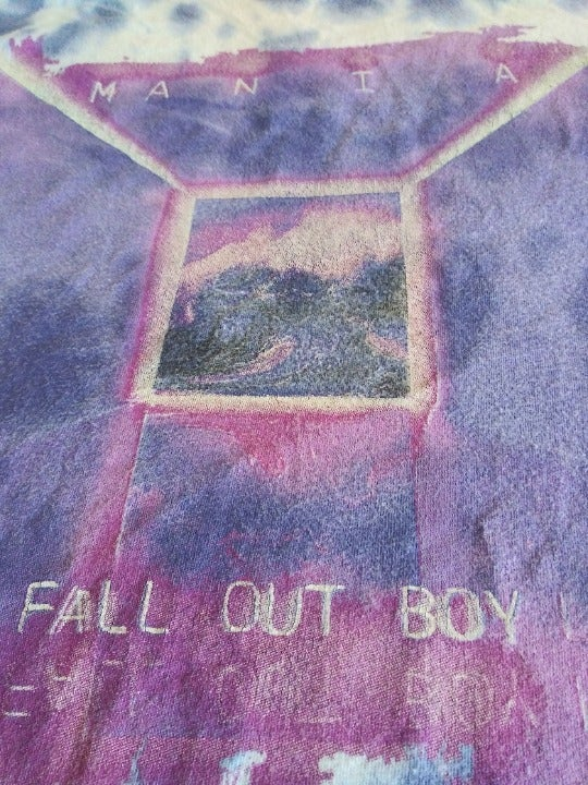 Sz S Fall Out Boy Mania Tie Dyed T Shirt