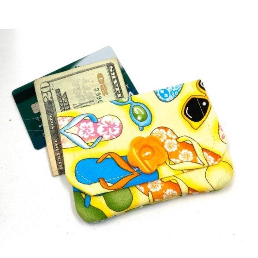 Flip Flop/ Beach Card Wallet- Handmade