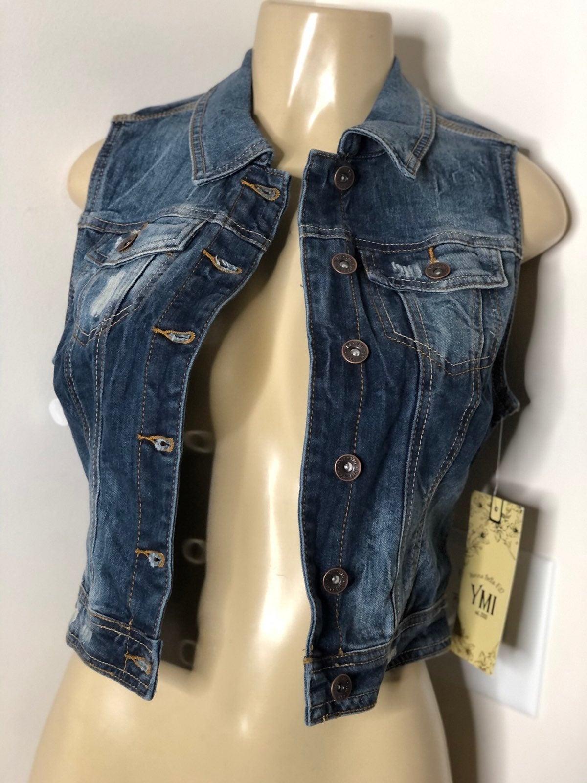 YMI jeans denim jacket vest