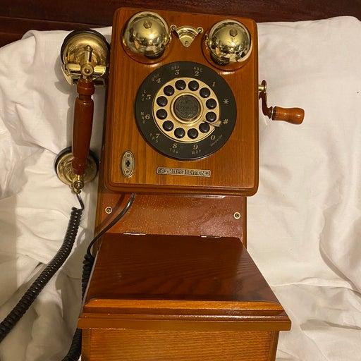 Crosley Vintage Wood Case Wall Phone