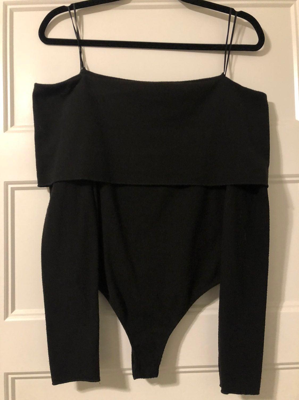 Off the shoulder sweater bodysuit