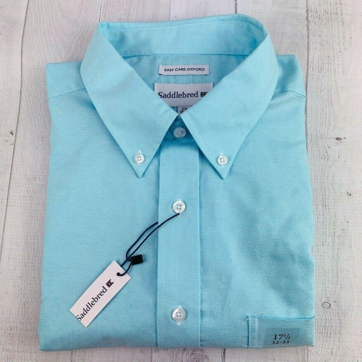 Saddlebred Dress Shirt 17.5 32/33 NWT