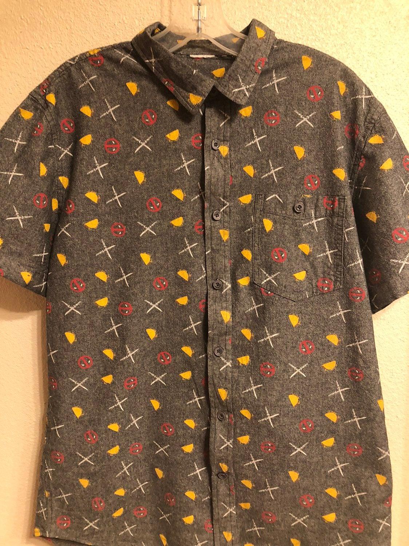 Deadpool casual mens shirt size med