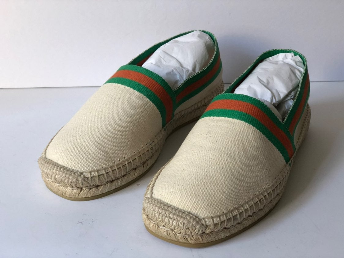 GUCCI WOMEN`S CLASSIC GREEN/RED ESPADRIL