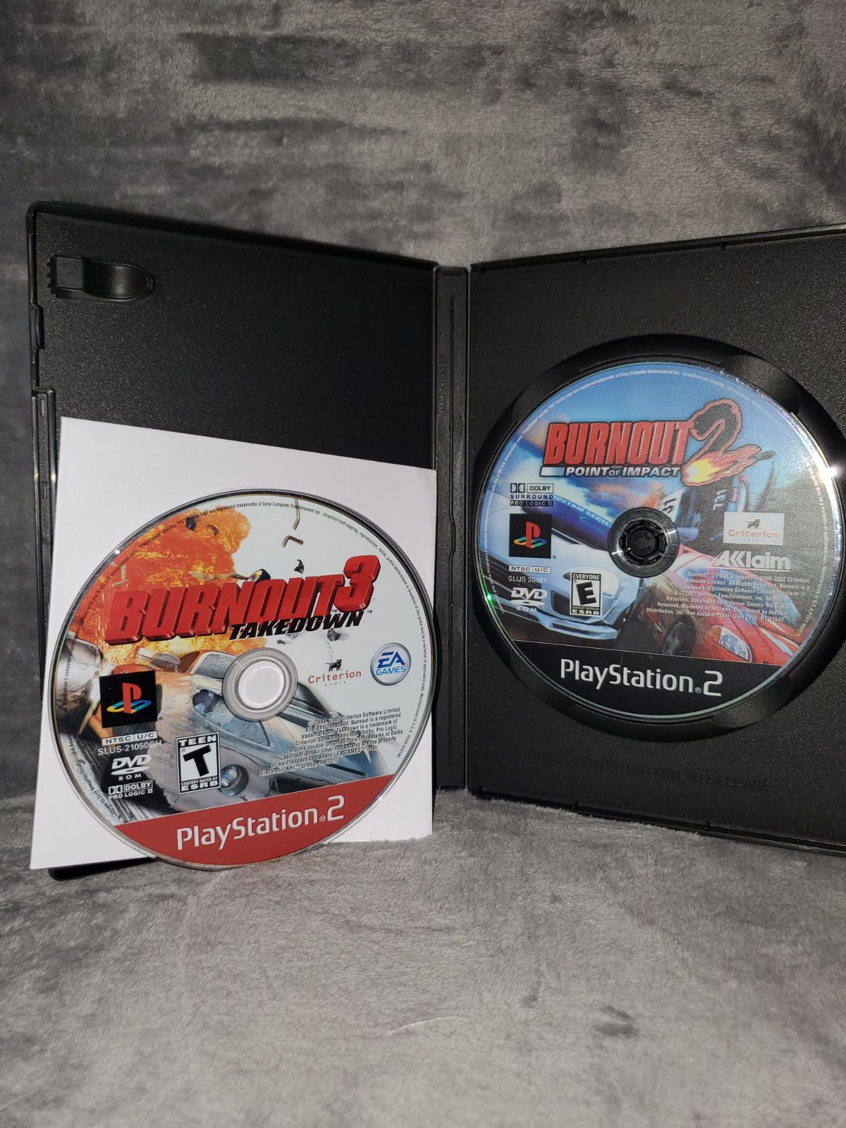 BURNOUT 2 AND 3 PS2