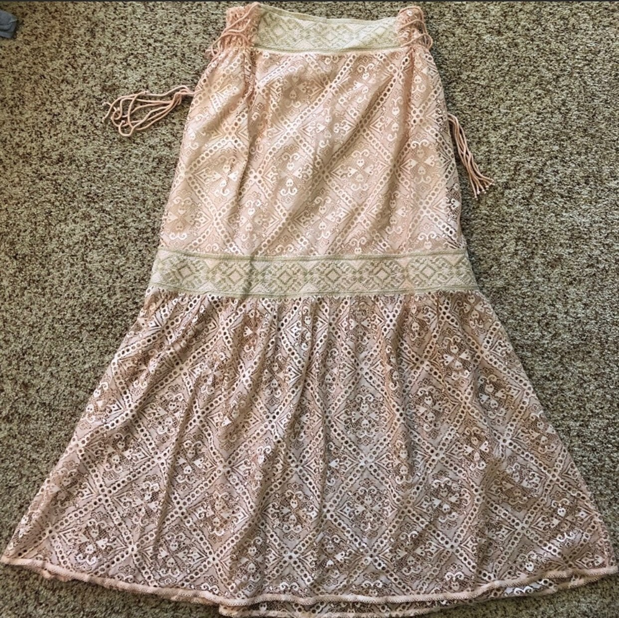Anthropologie Queen & Pawn Lace Skirt M