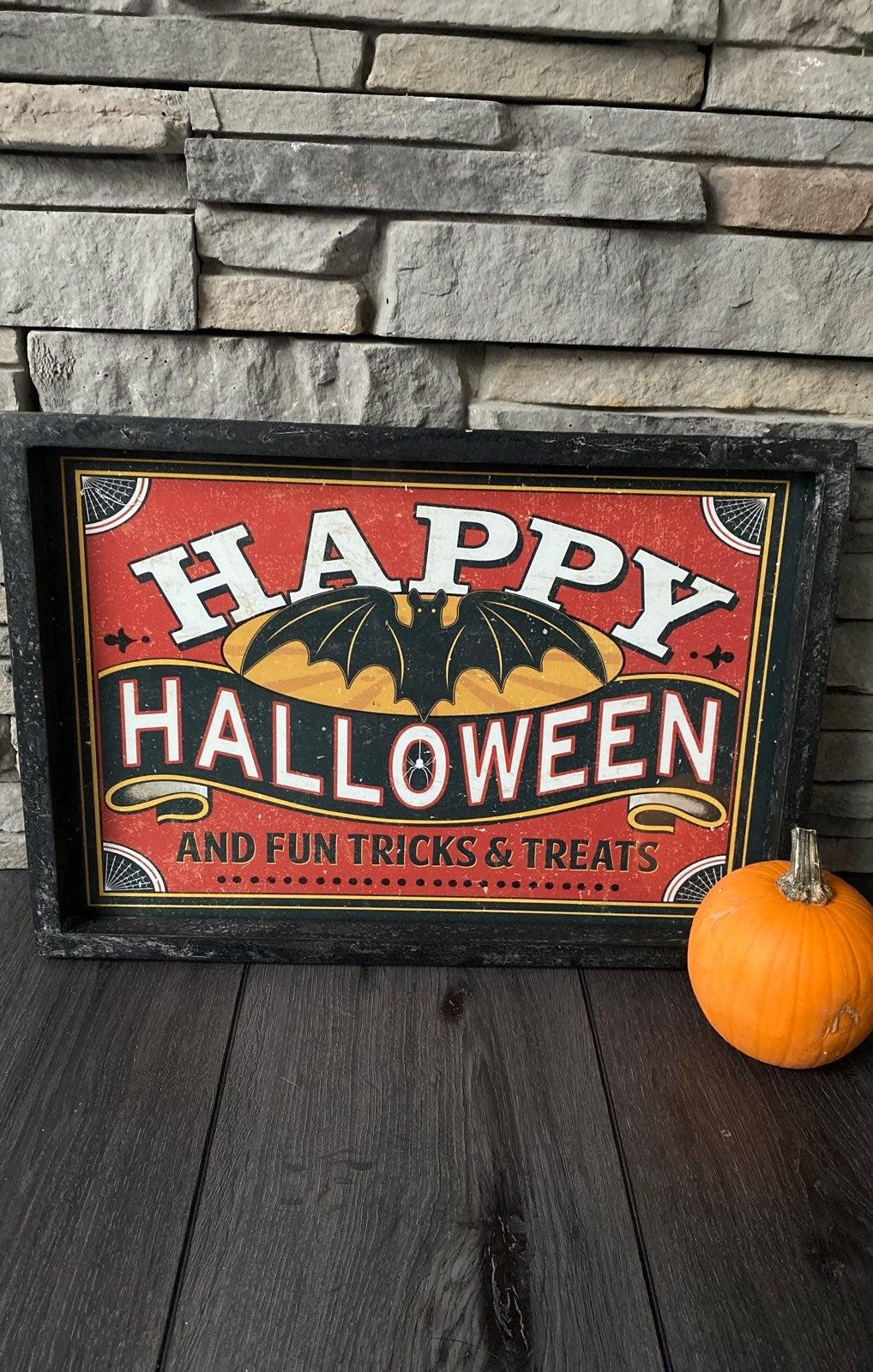 Vintage framed Halloween print