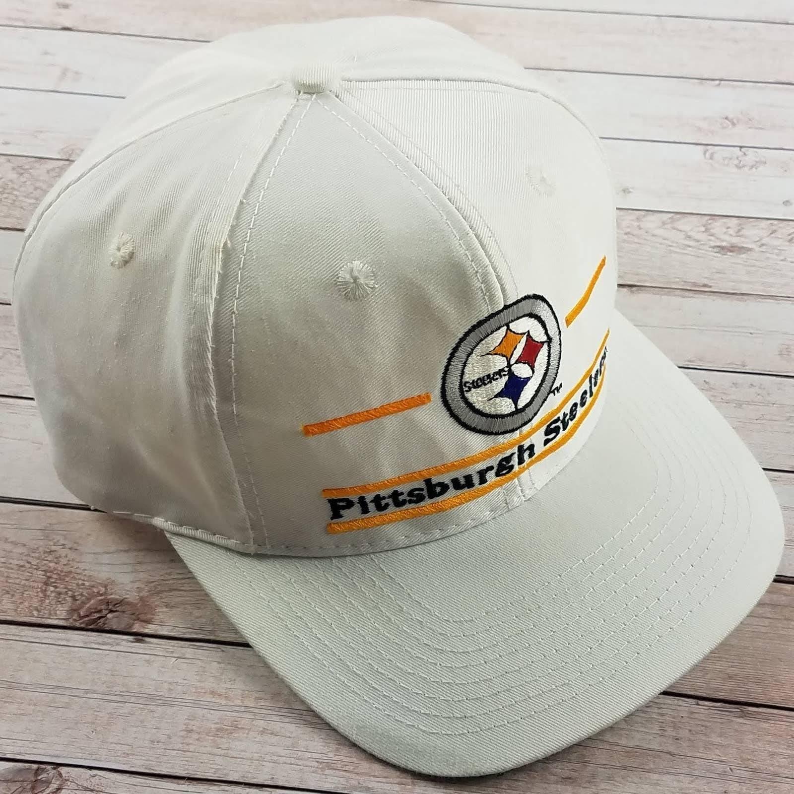 VTG 90s Steelers Split Bar Snapback Hat