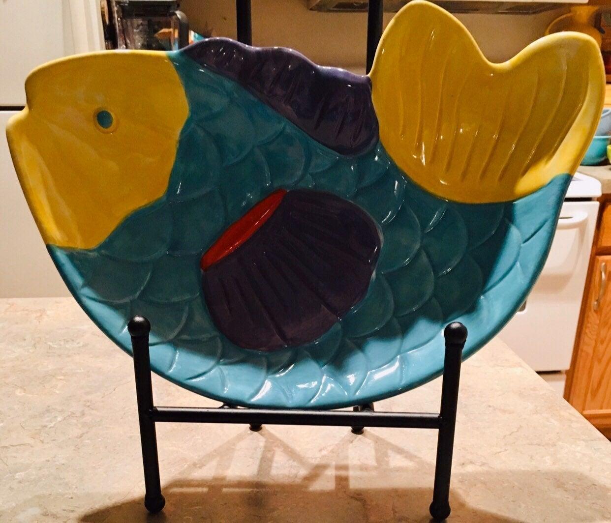 TREASURE CRAFT VINTAGE FISH PLATTER