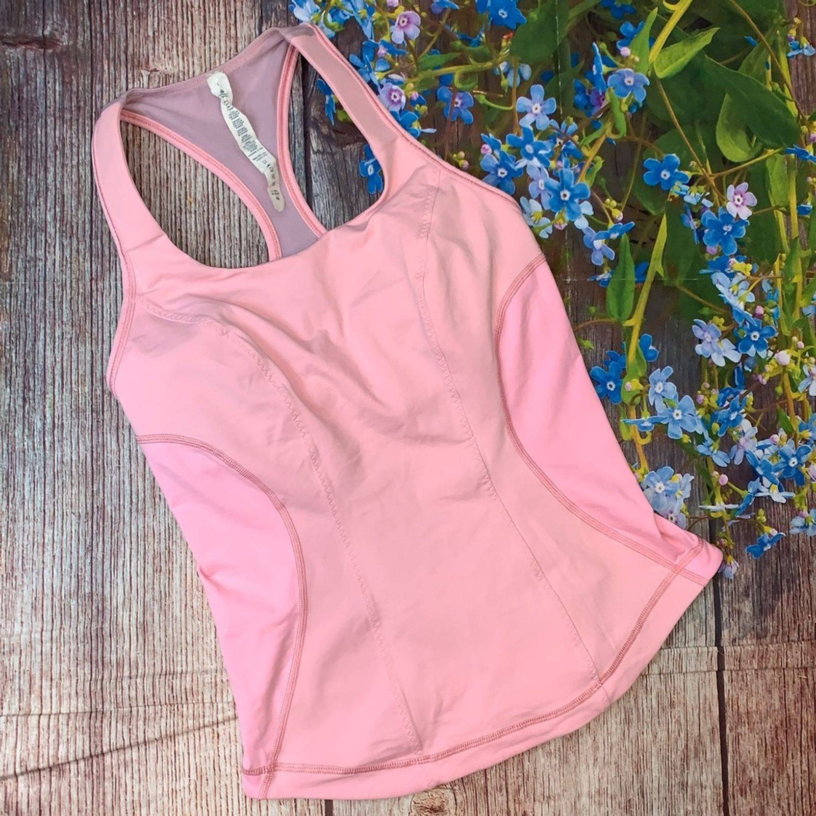 Lululemon Cardio Kick Tank Coral Pink  8