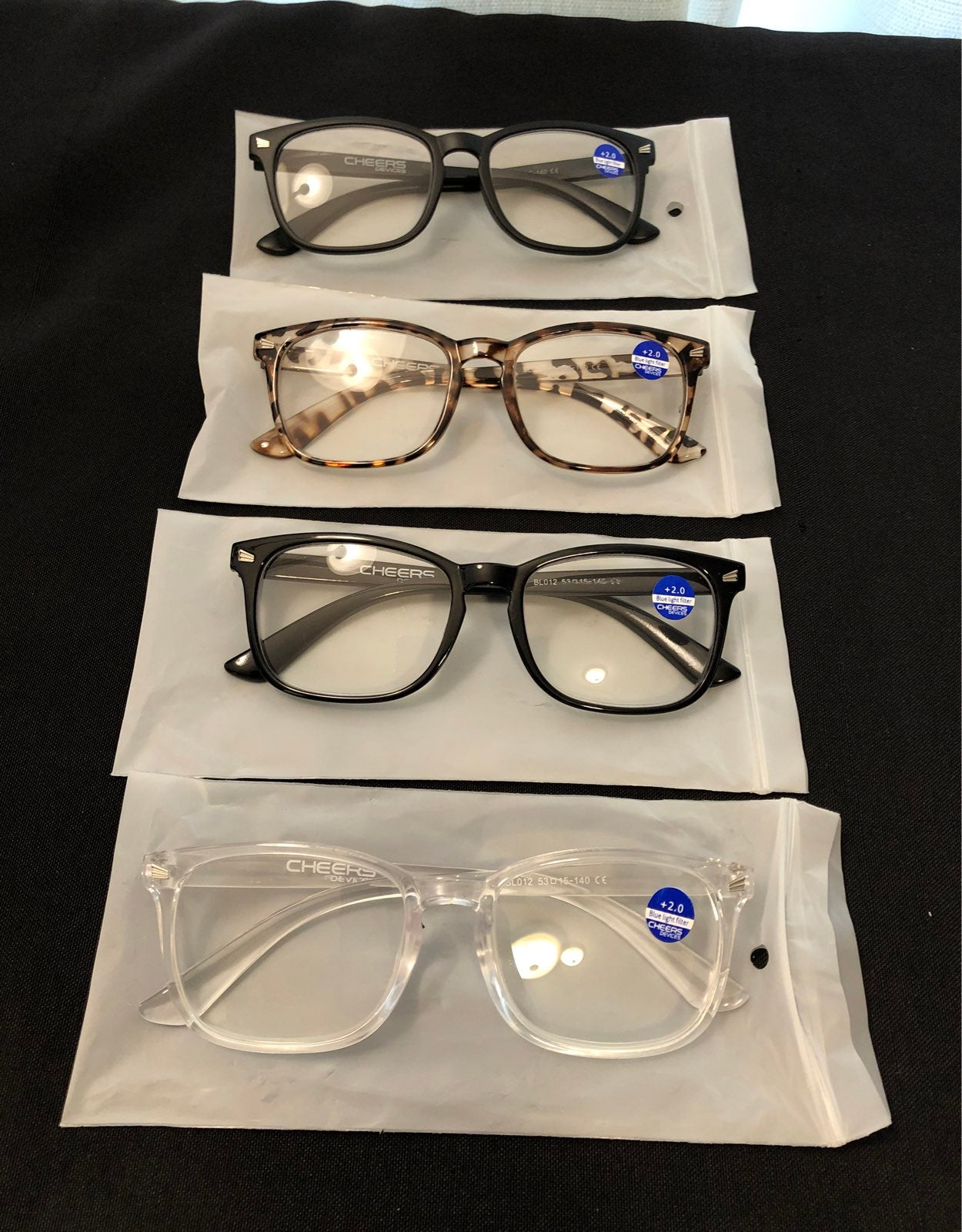 Lot of 4 pair of Cheers Reading Glasses