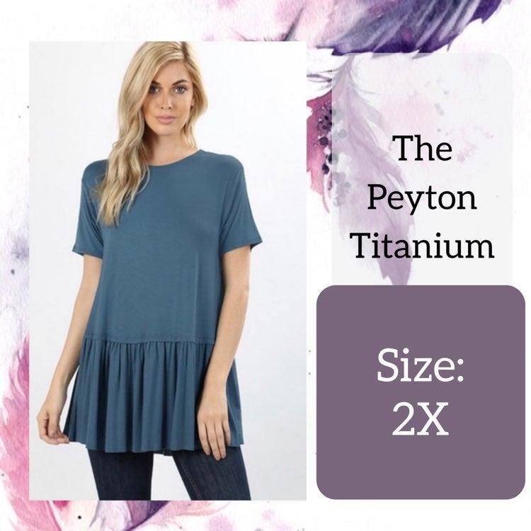 2X Plus Size Titanium Flirty Blouse