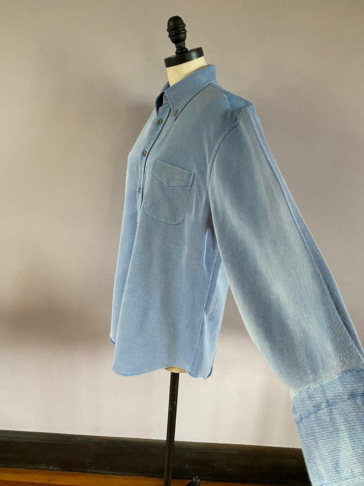 Paul Stuart prewashed denim shirt size L