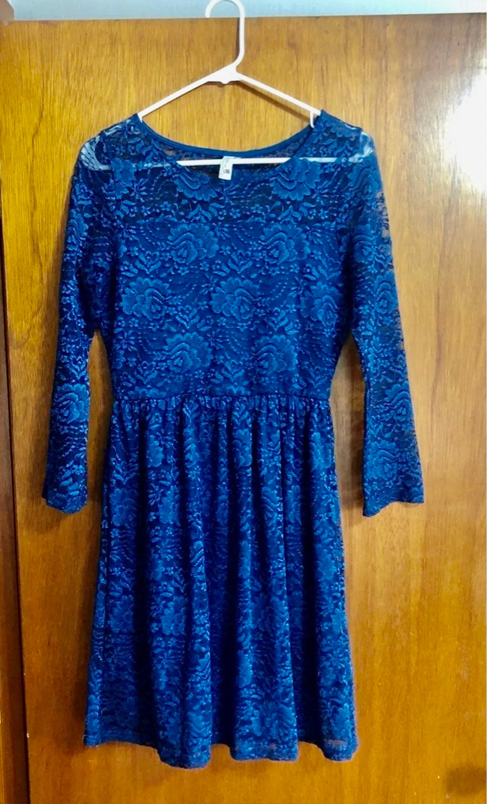 Womens Blue lace dress