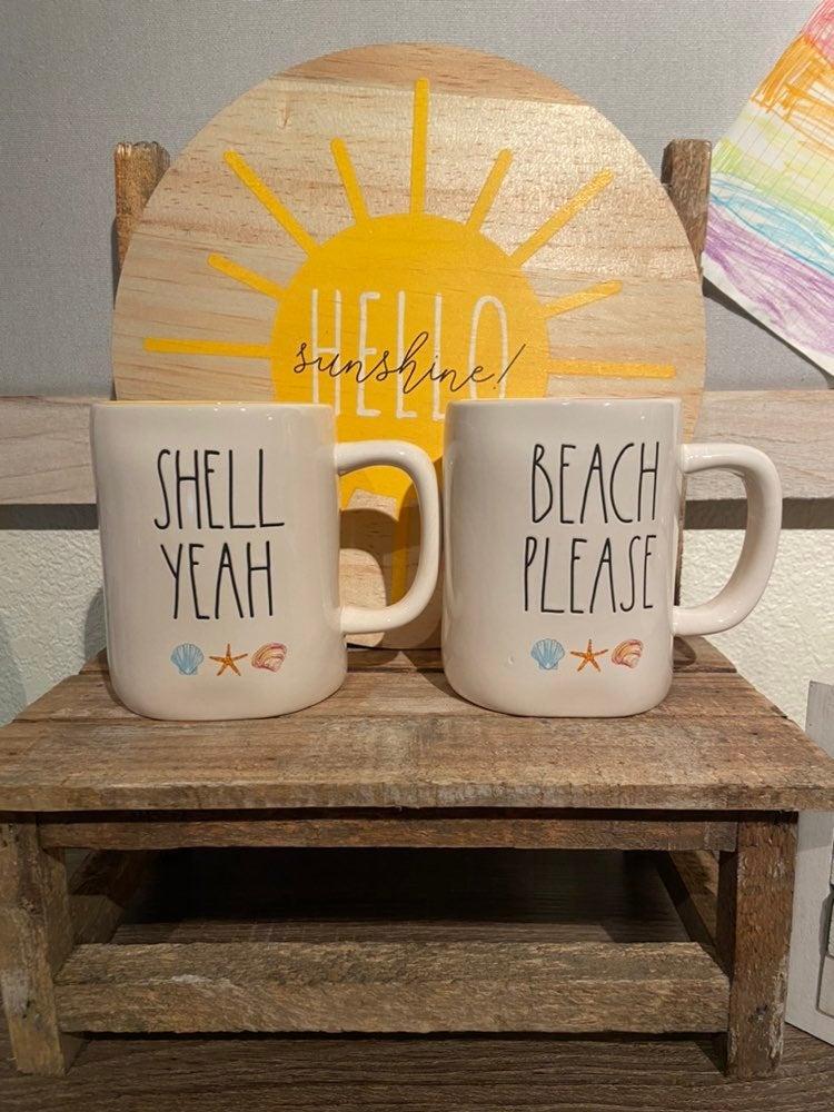 Rae Dunn beach please mug and shell yeah