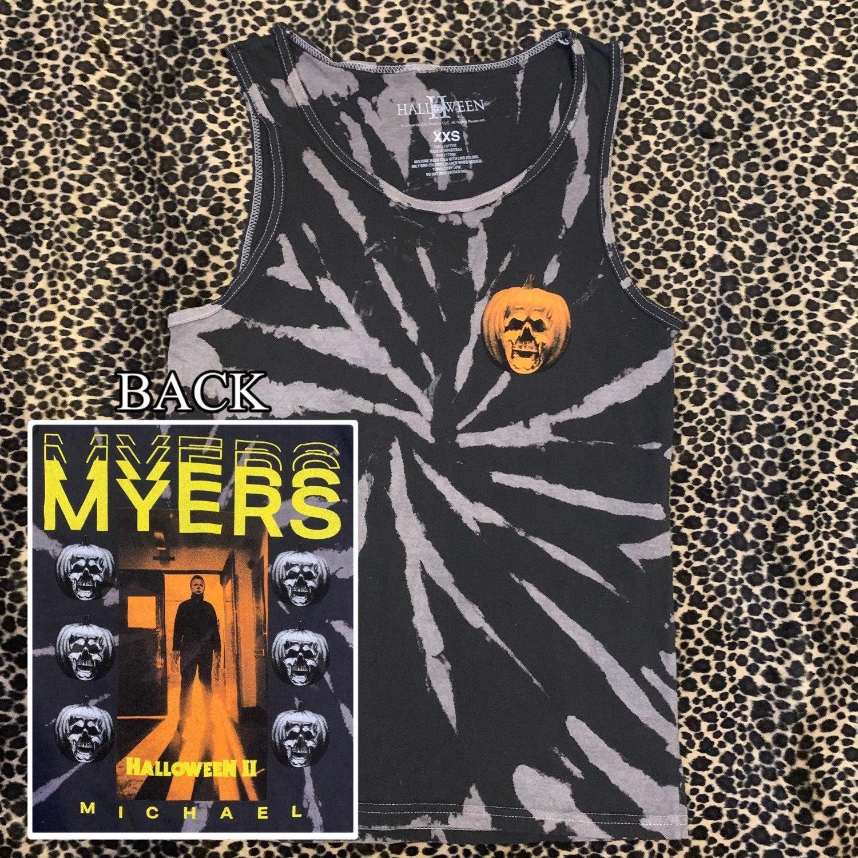 Halloween Horror Movie Tie Dye Tank Top
