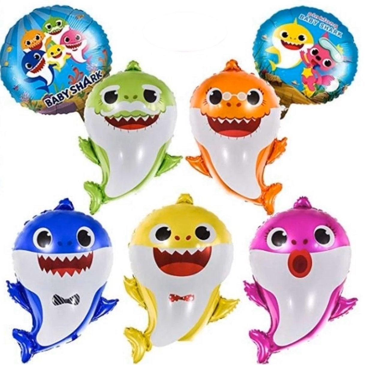 Baby shark family balloons 7pcs.