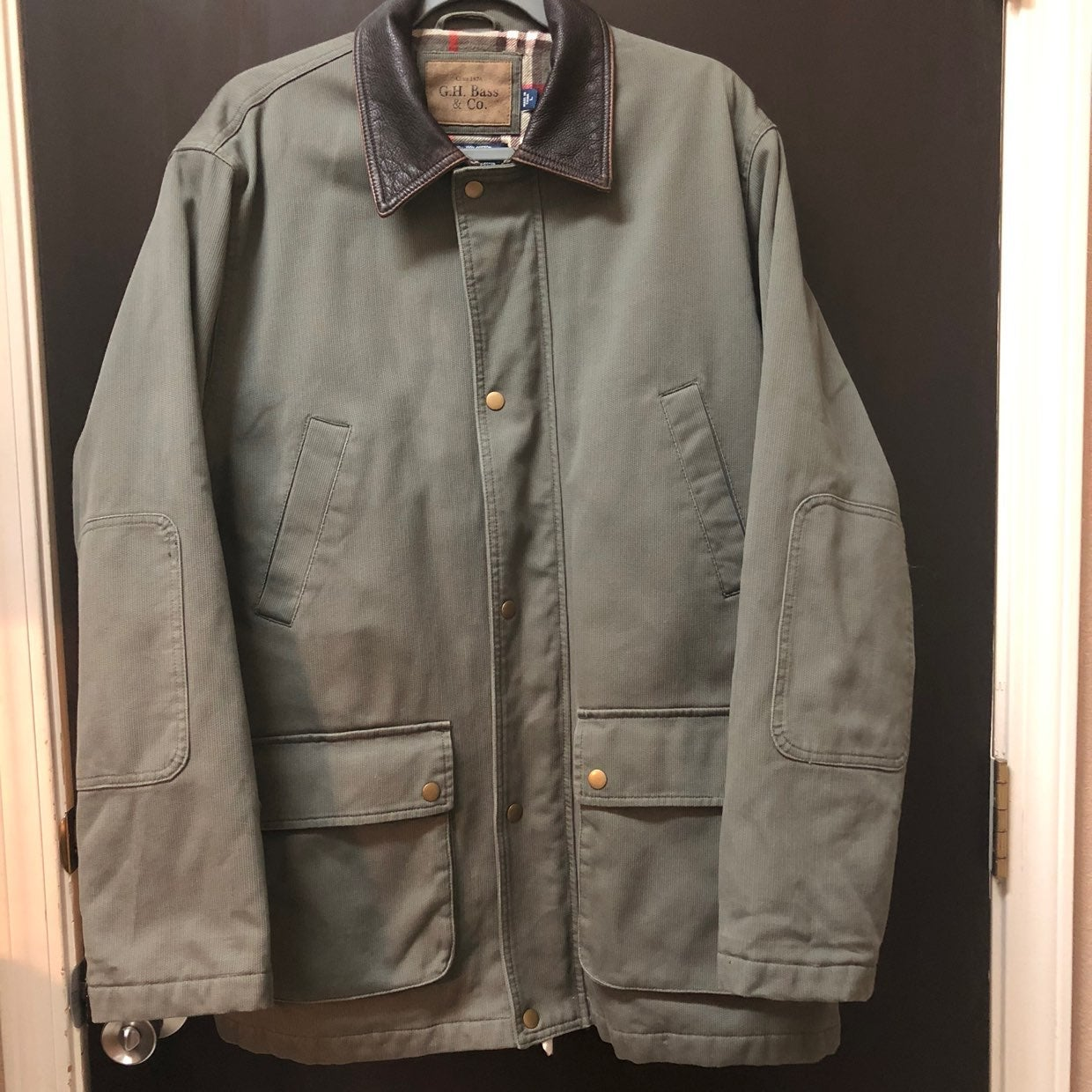 Mens Jacket Army Green Large