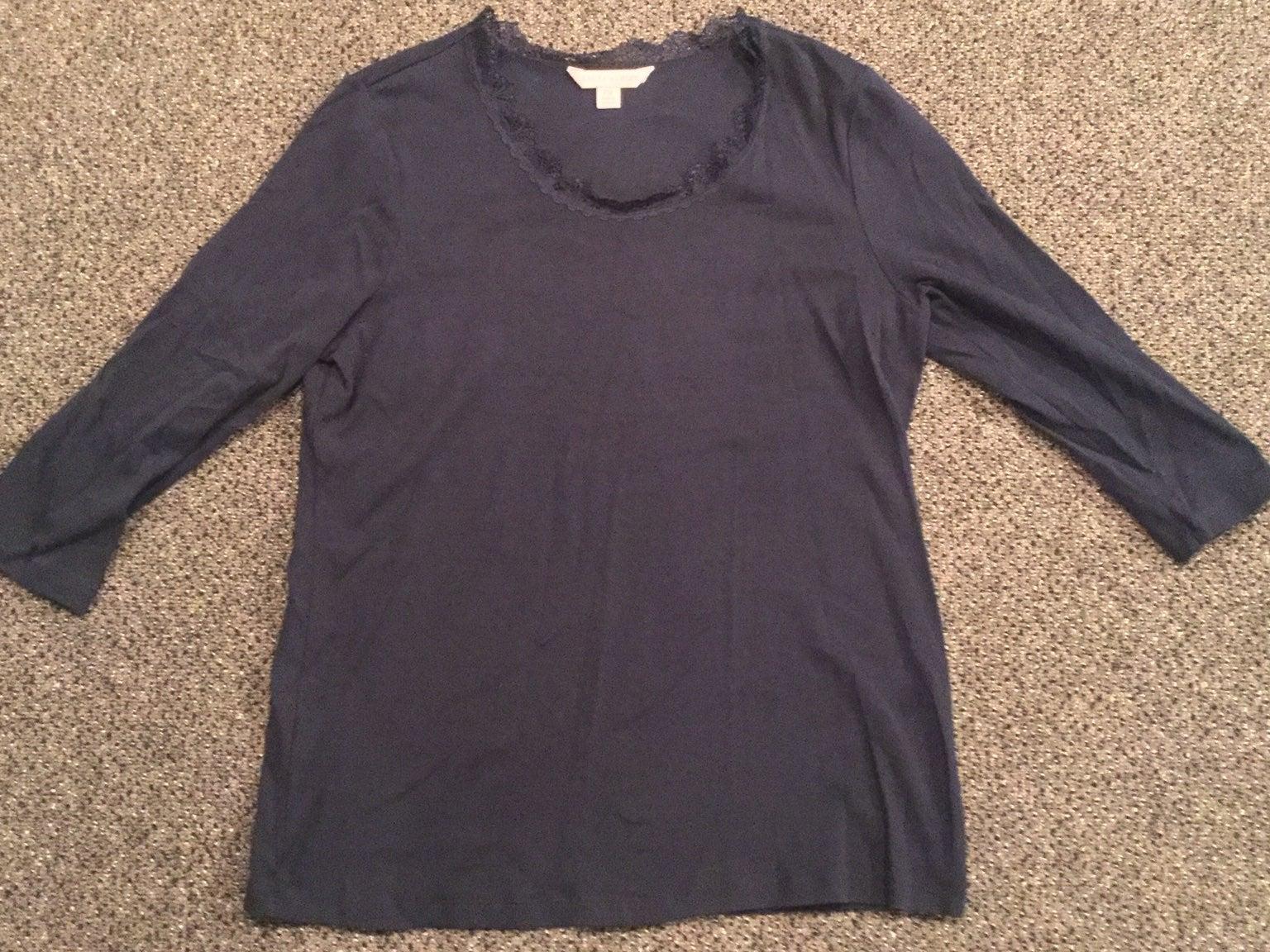 Laura Ashley Long Sleeve Shirt, Size PM