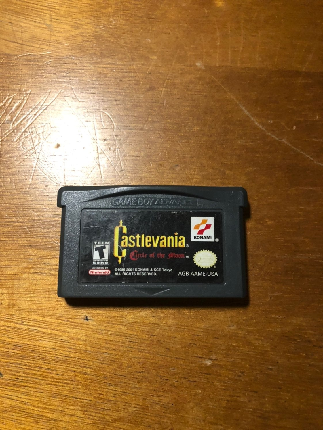 castlevania circle of the moon gba