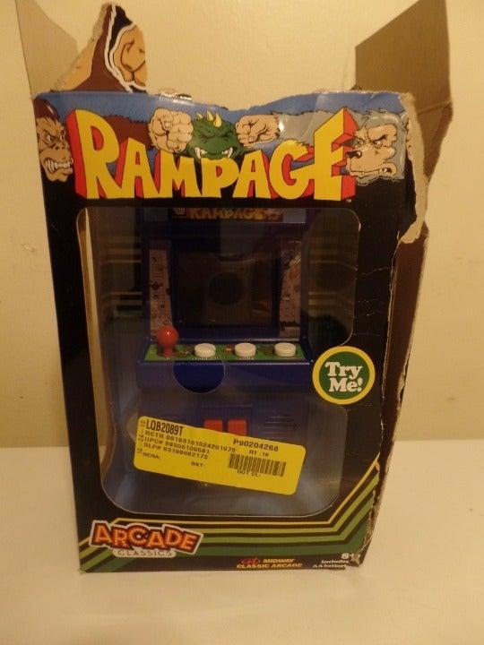 RAMPAGE arcade handheld game damaged box