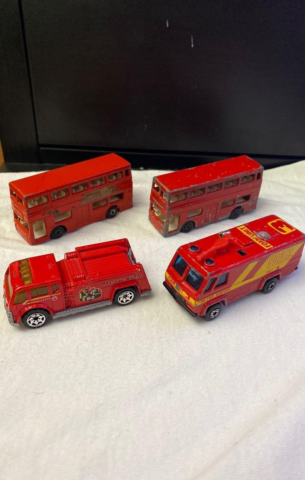 Vintage Matchbox Double Decker Buses