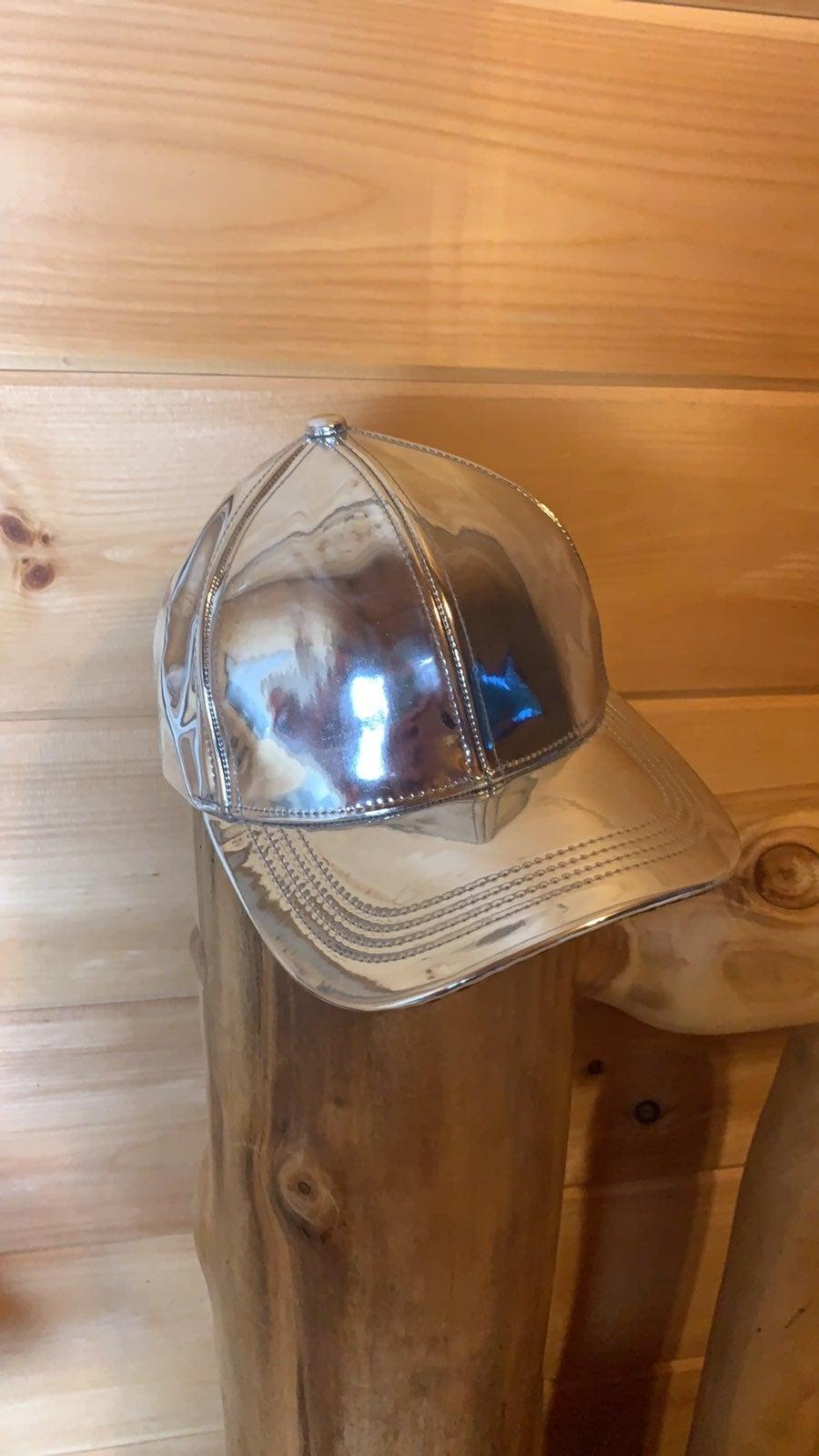 Metallic silver baseball cap One Size