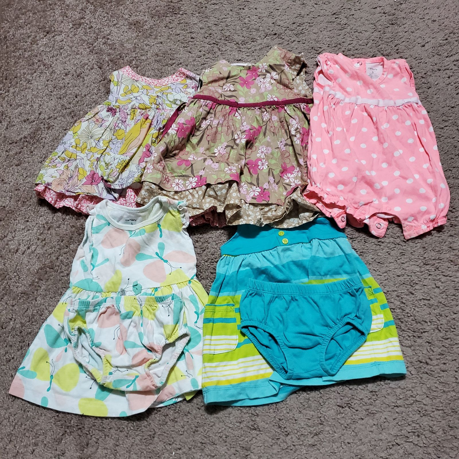 5 piece Girl's 6M and 6-9M Bundle