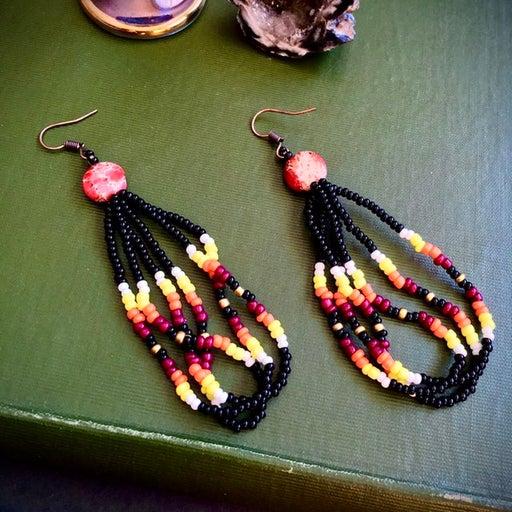 Native American Seed Bead Earrings