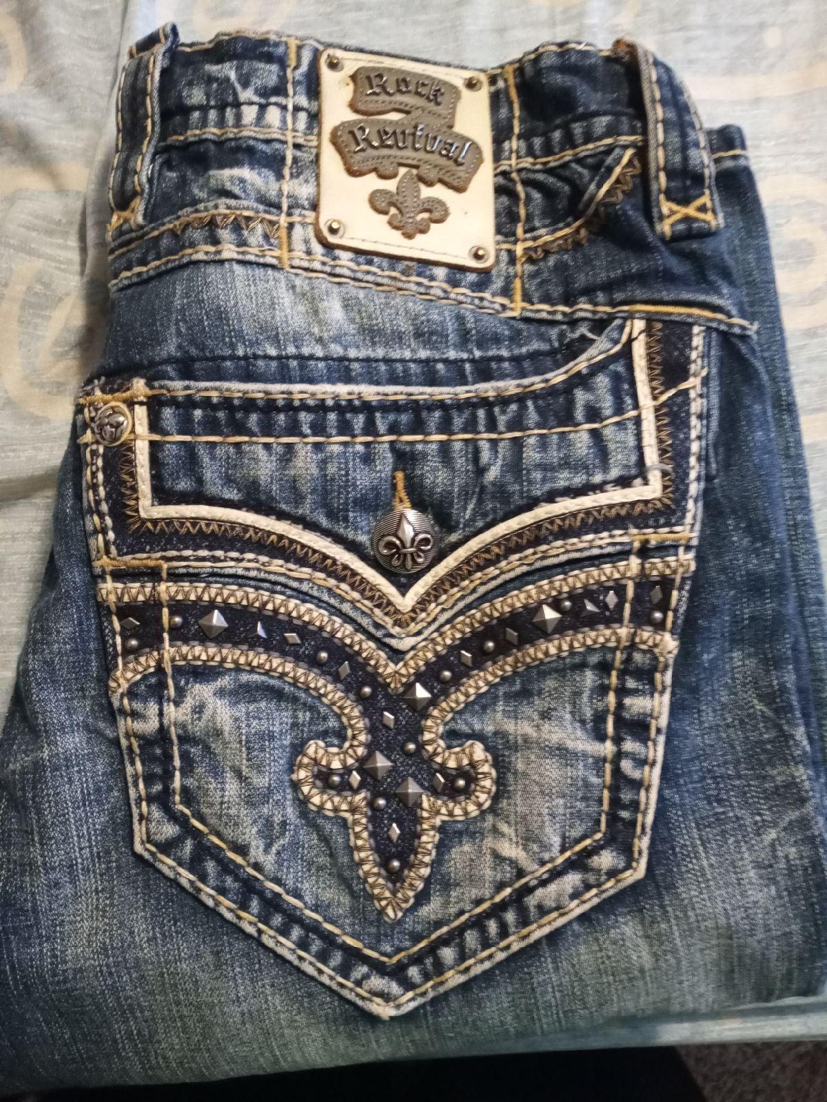 Men's Rock Revival Jeans Size