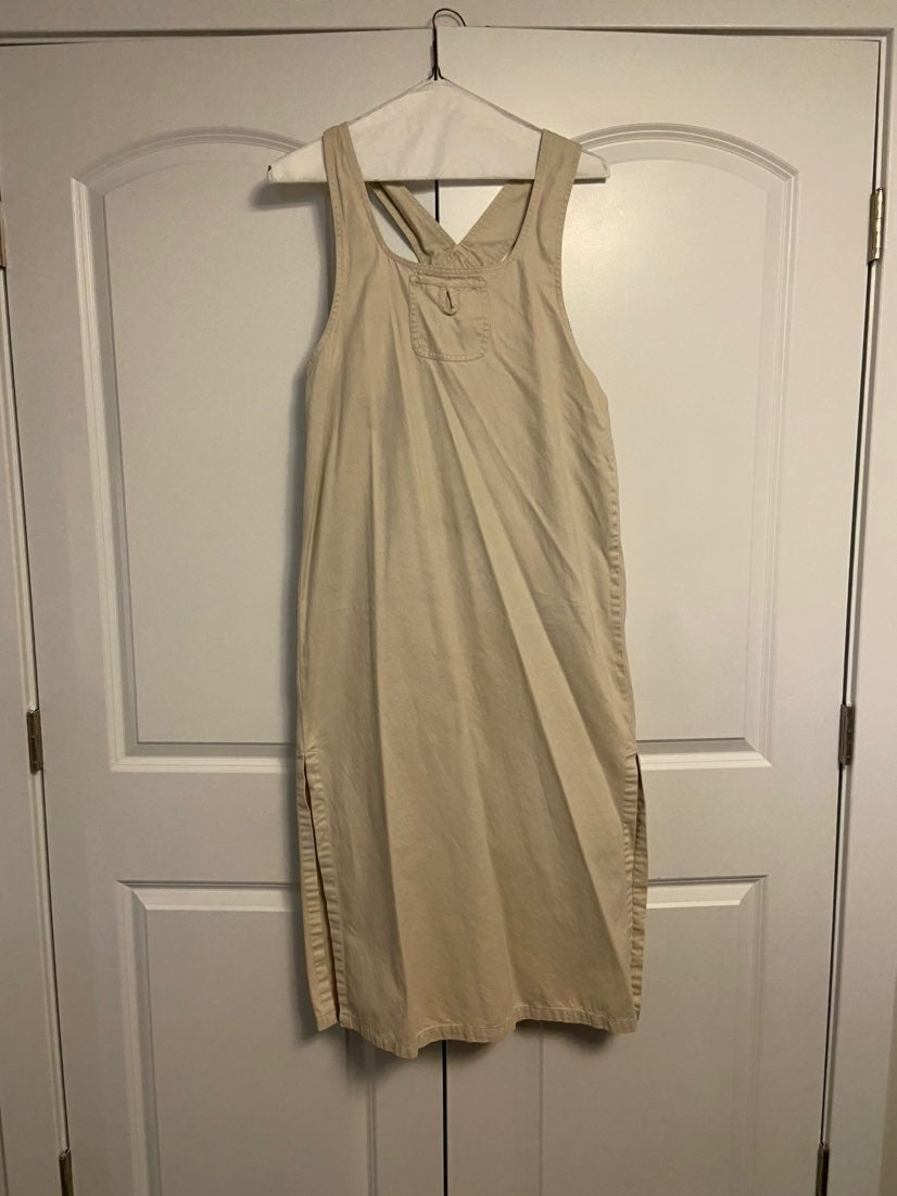 Dress tan cotton medium