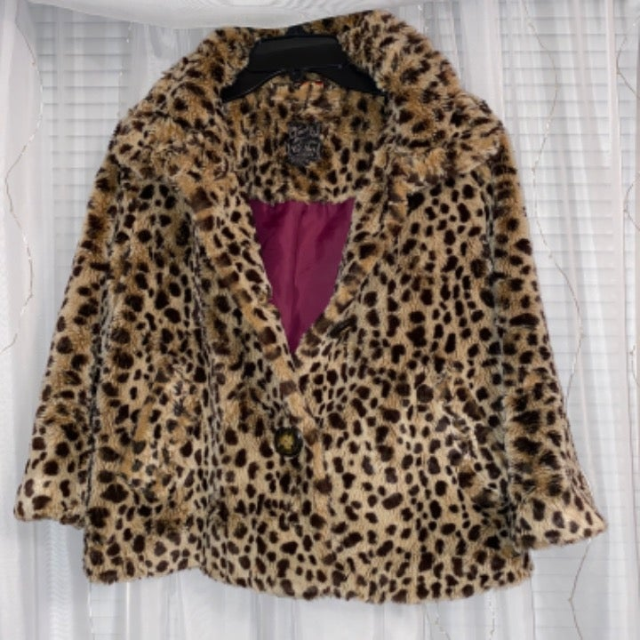 faux fur cheetah jacket