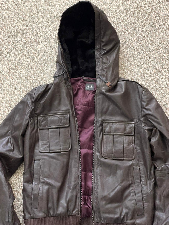 Armani exchange lamb leather jacket