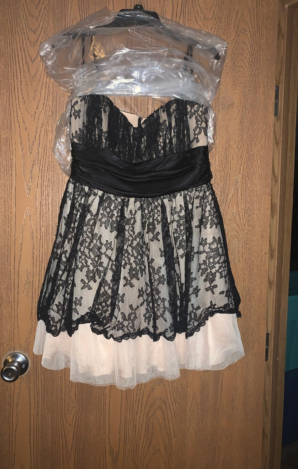 B. darlin black and creme dress