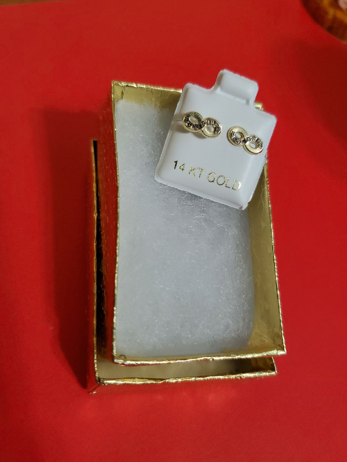A INFINITY 14 K Gold earrings firm price