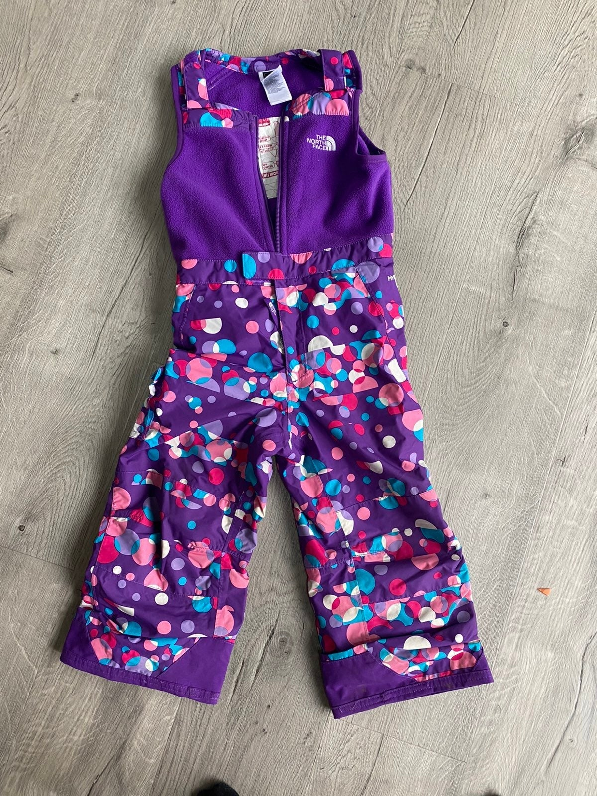 North face girls snow/ski bib