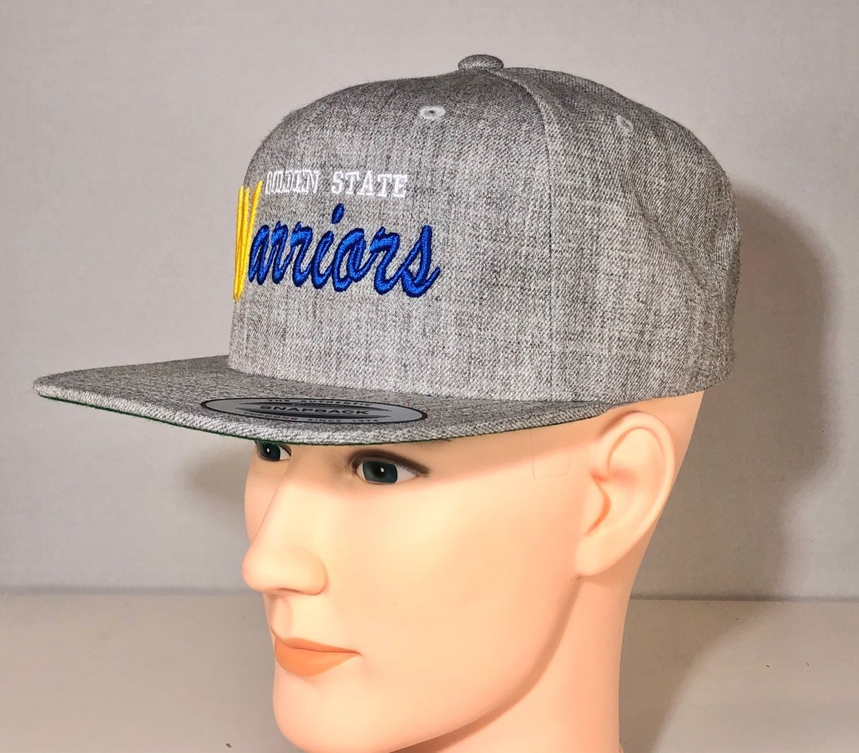 Hats for men, Snapback Yupoong hat, Gold