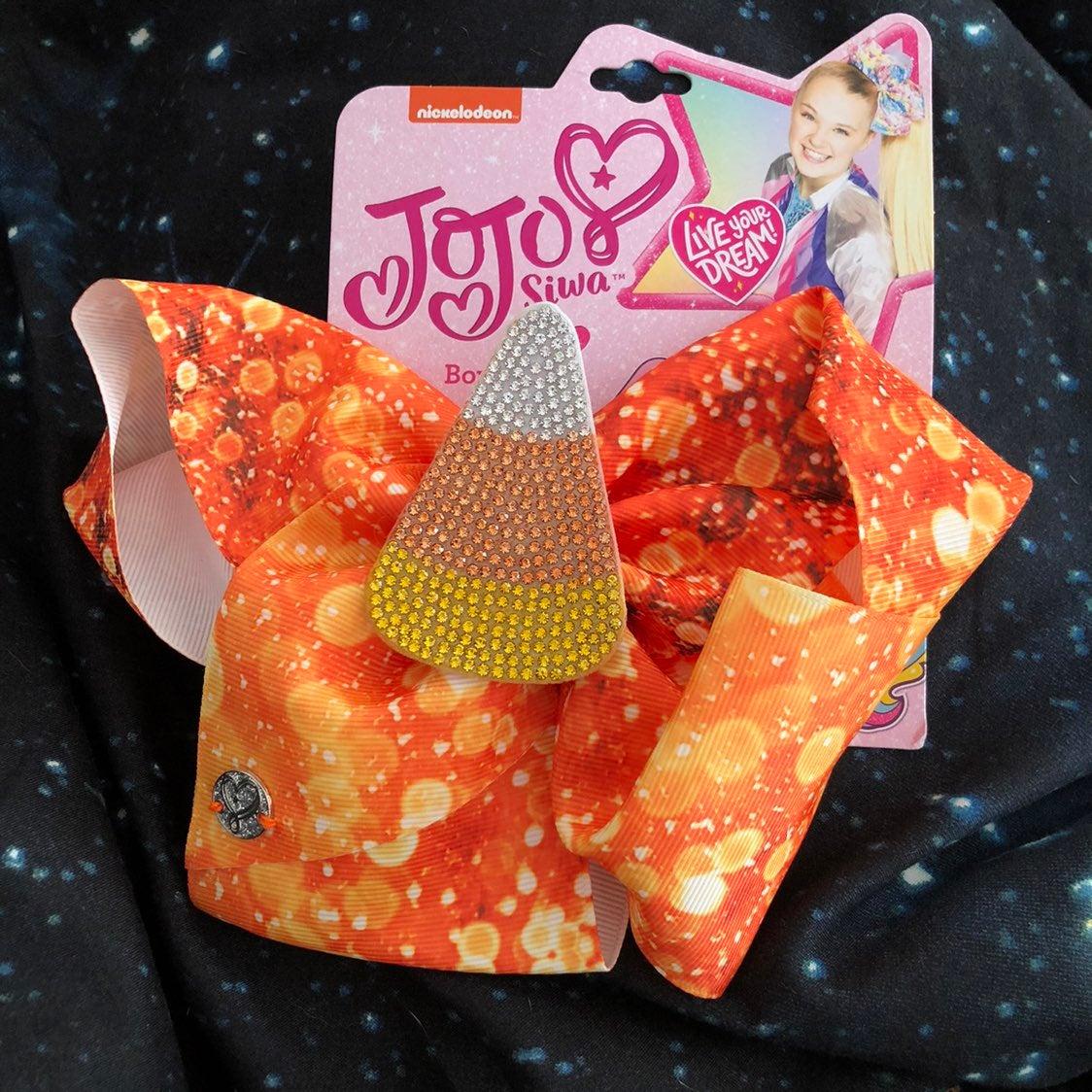 NWT Jojo Siwa Halloween Candy Corn Bow